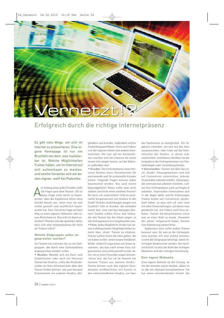 34_Vernetzt   24.02.2010        15:19 Uhr       Seite 34              job & career | internet              Vernetzt!?     ...