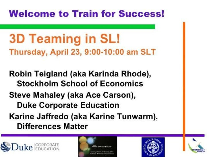 "Today""s discussion Presentation of audience Introduction of speakers and session 3D teaming activity Intercultural lea..."