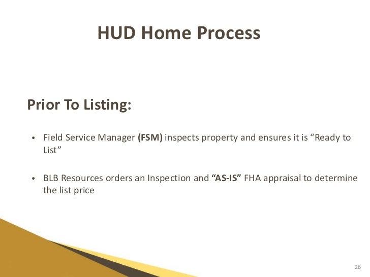 Hud Field Service Management : Hud listing broker presentation