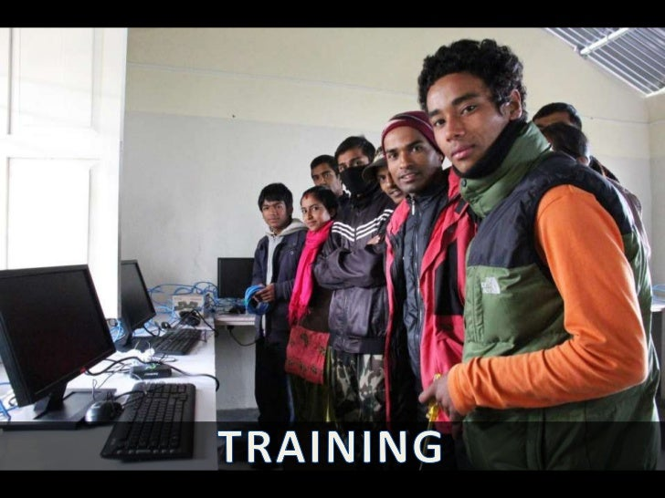 Microsoft technician, Raju Shrestha, provides computerhardware and software training for the new system
