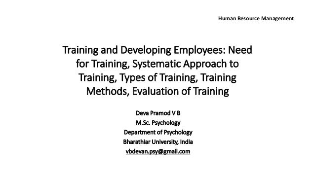 systematic approach in hrm Tesco hrm essay a report on  hr and training literatures highlights the organisational benefits to be gained from adopting a systematic approach.