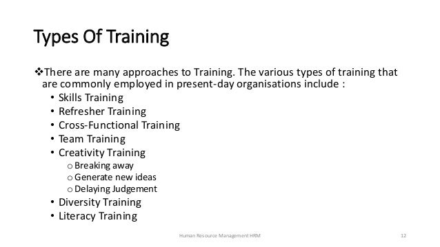 Training - Human Resource Management HRM