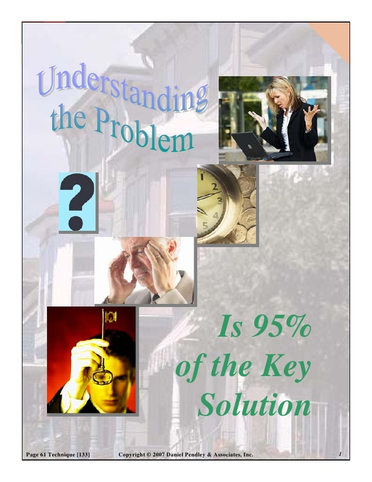 Is 95%                                                of the Key                                                 Solution ...