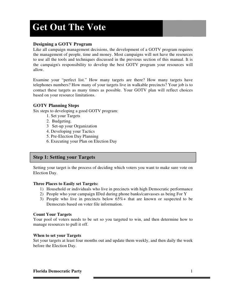 Training Manual Gotv