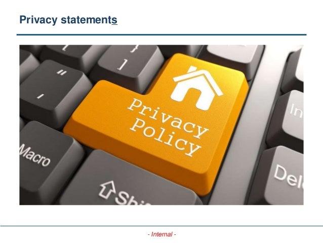 - Internal - Privacy statements