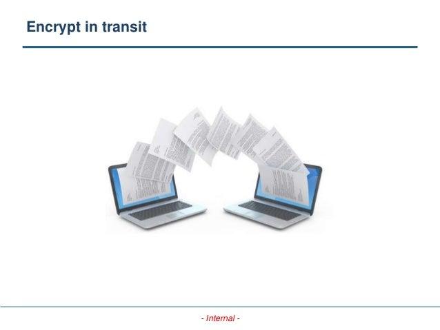 - Internal - Encrypt in transit