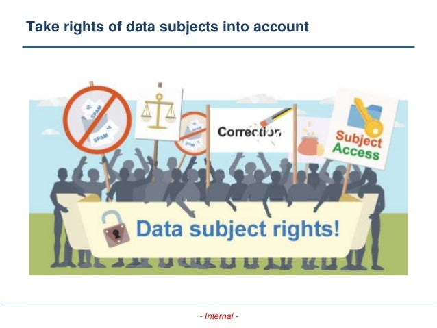 - Internal - Take rights of data subjects into account