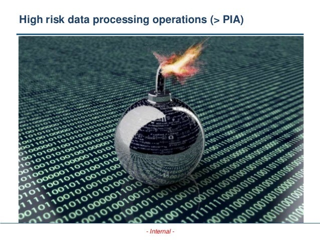 - Internal - High risk data processing operations (> PIA)