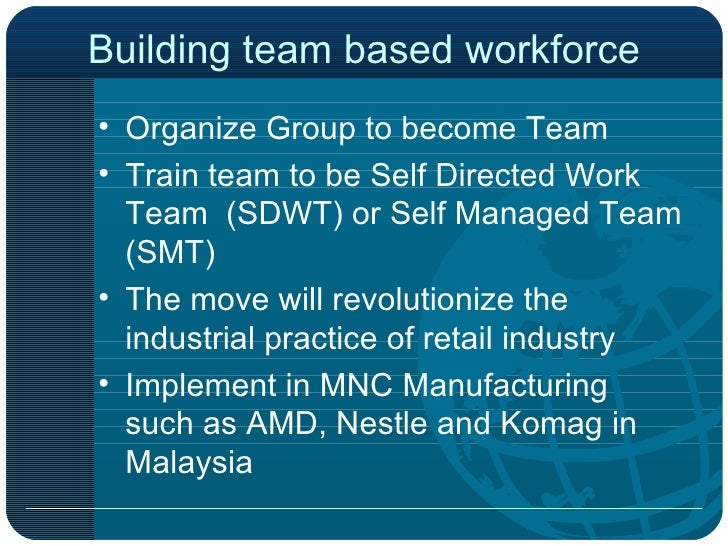 self directed work team sdwt advantages and disadvantages Video: self-directed teams: definition, advantages & disadvantages there are many types of teams found in different business organizations in this lesson, learn about the advantages and disadvantages of self-directed teams.