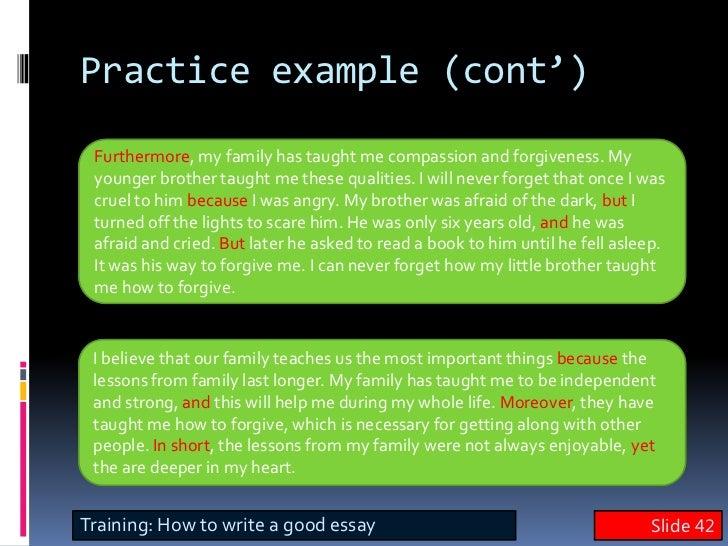 english writing skills  essay slide 41 42