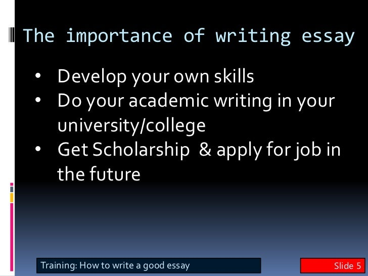 english writing skills  write a good essay training slide 4 4 5 the importance