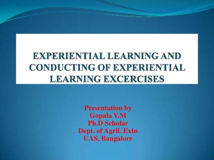 Presentation by   Gopala Y.M  Ph.D ScholarDept. of Agril. Extn UAS, Bangalore