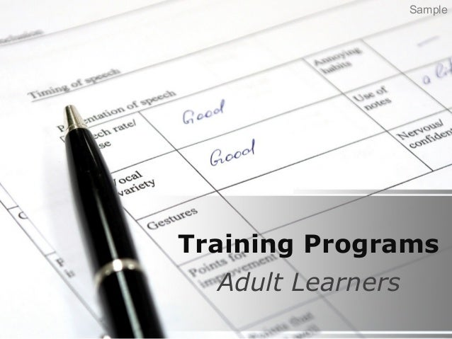 Training Programs Adult Learners Sample