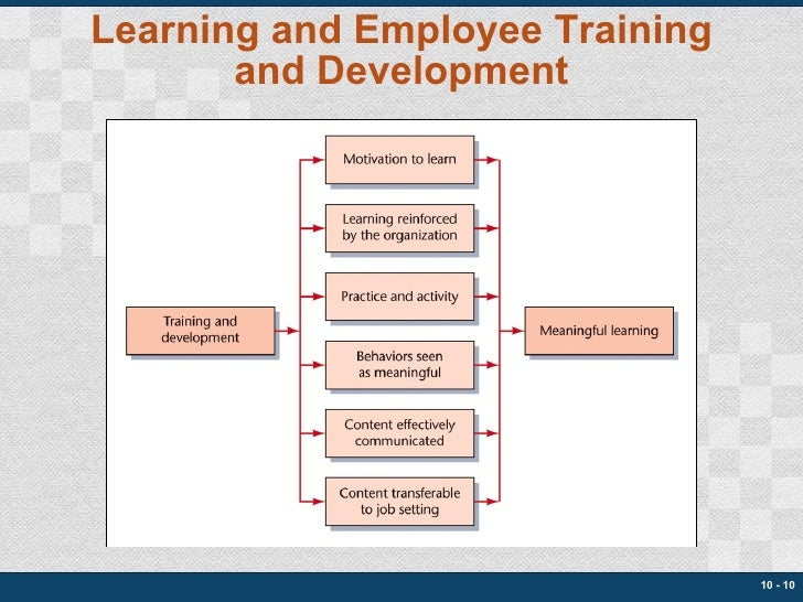Learning and Employee Training and Development 10 -