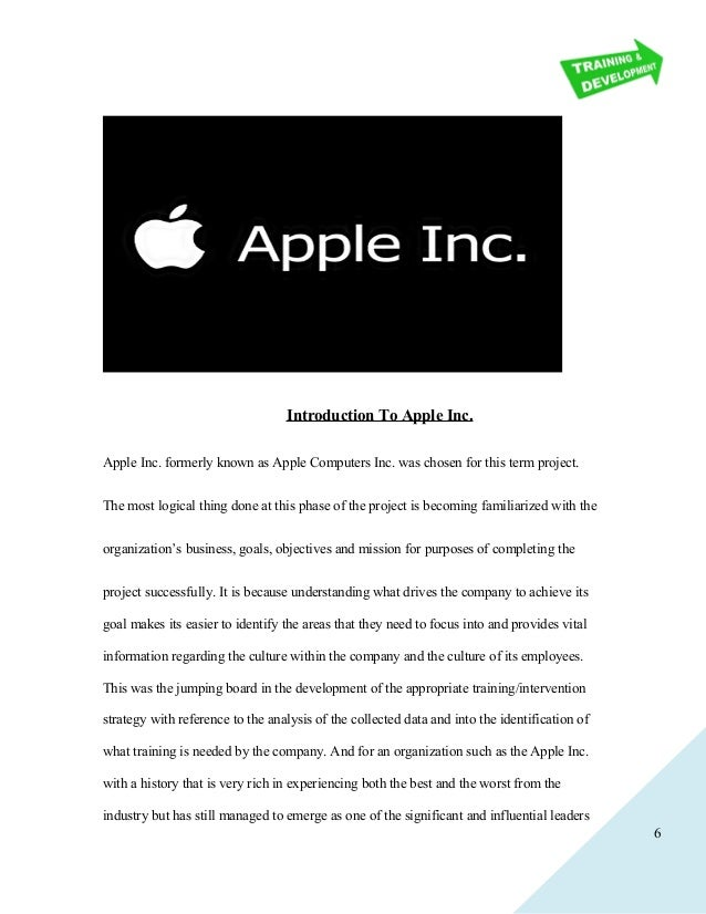 apple goals and objectives