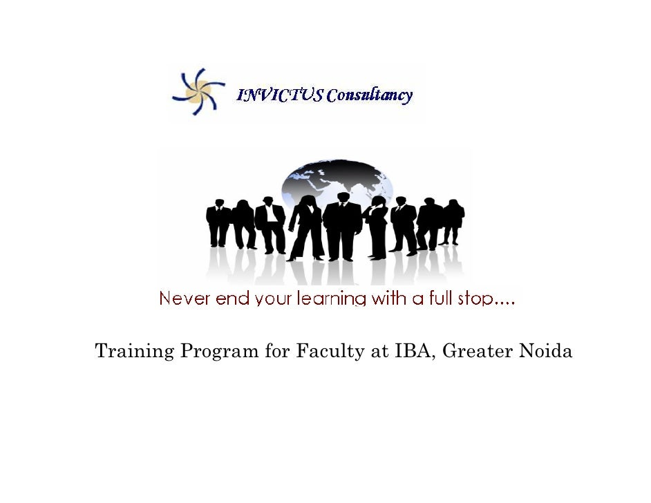 Training Program for Faculty at IBA, Greater Noida