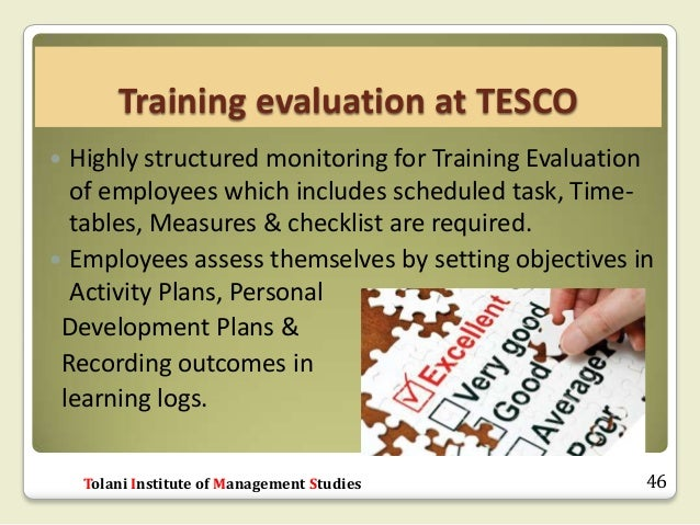 Monitoring of employee performance in tesco