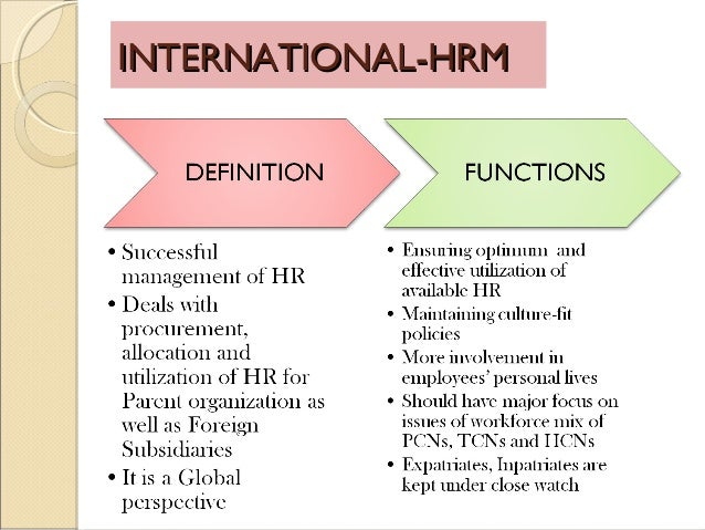 globalization effects on international hrm Potential of its human capital in the malaysia public sector the human resource management  globalization and human resource development in the  take effect on .