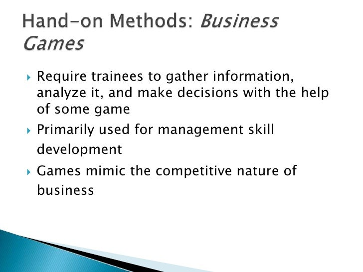 business games training method