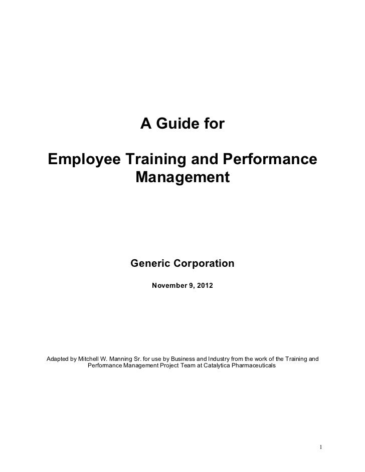 Training and Performance Management Guide