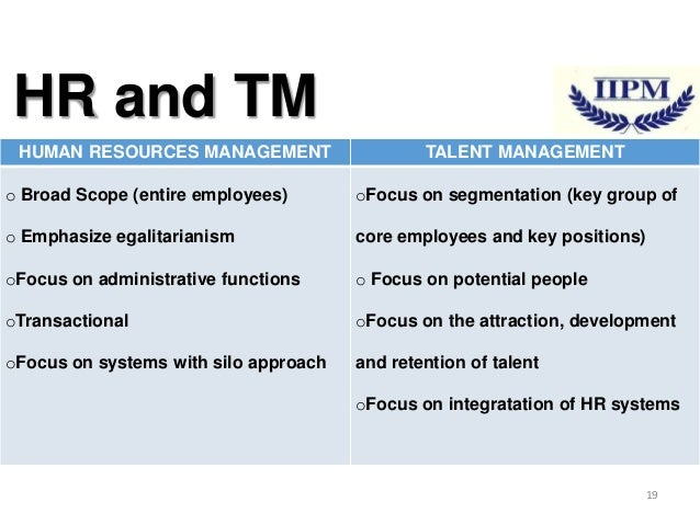 talent management in hrm Learn about human resource management and talent management in this topic from the free management library.