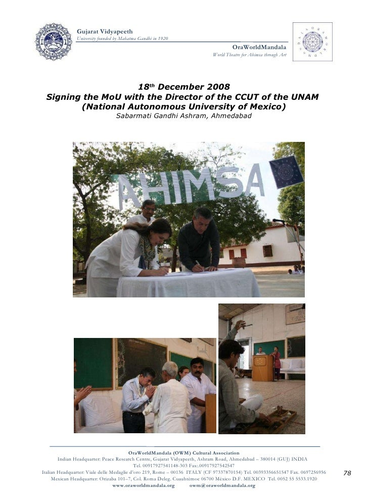 18 th  December 2008 Signing the MoU with the Director of the CCUT of the UNAM  (National Autonomous University of Mexico)...