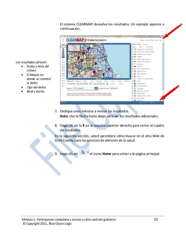 Módulo 1. Participación ciudadana y acceso a sitios web del gobierno 33 © Copyright 2011, Blue Ocean Logic El sistema CLEA...