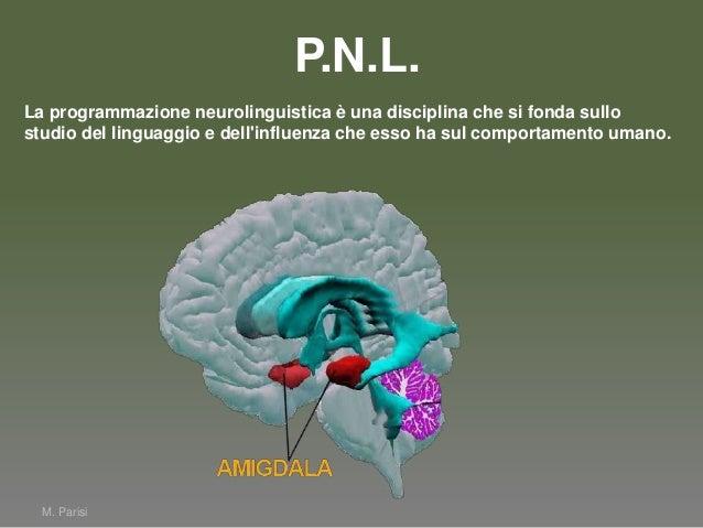 M. ParisiLa programmazione neurolinguistica è una disciplina che si fonda sullostudio del linguaggio e dellinfluenza che e...