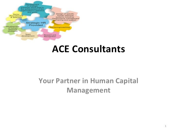 ACE Consultants Your Partner in Human Capital Management