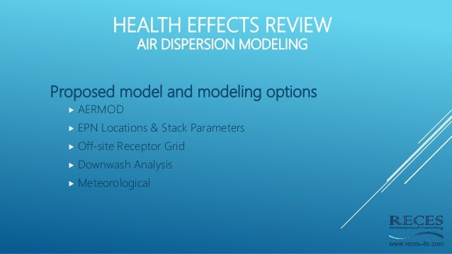 Proposed model and modeling options  AERMOD  EPN Locations & Stack Parameters  Off-site Receptor Grid  Downwash Analys...