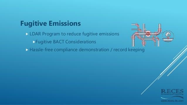 Fugitive Emissions  LDAR Program to reduce fugitive emissions Fugitive BACT Considerations  Hassle-free compliance demo...