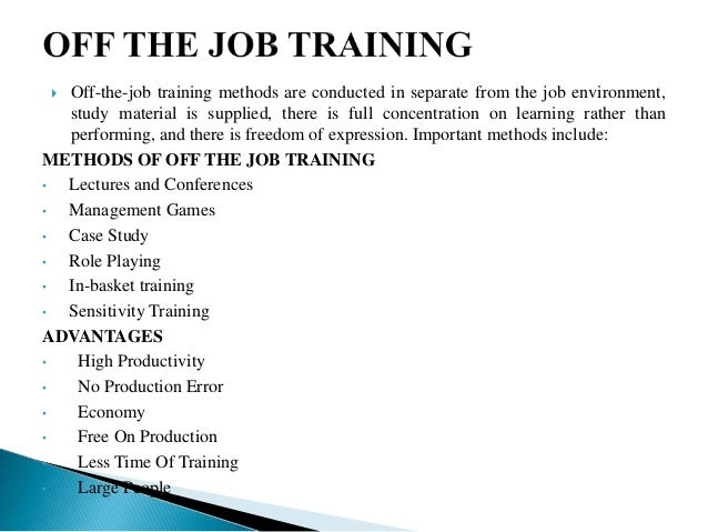Case study off the job training | Writing And Editing Services