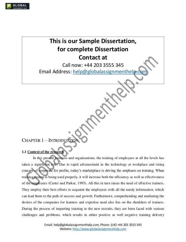 Dissertation evaluation training