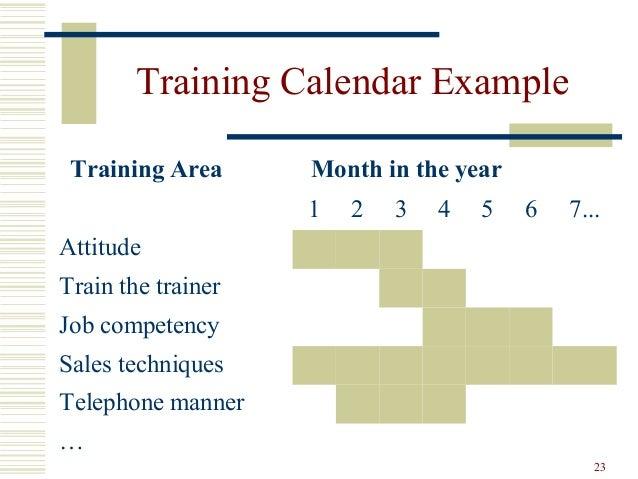 Training Calendar Example ...