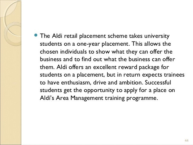 aldi training and development
