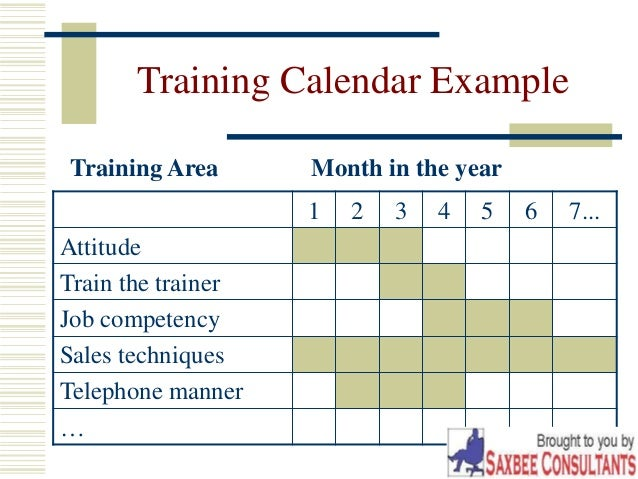 Training Calendar Format For Employees Leoncapers