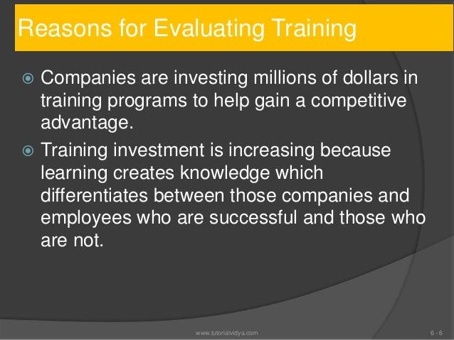 methods of training evaluation