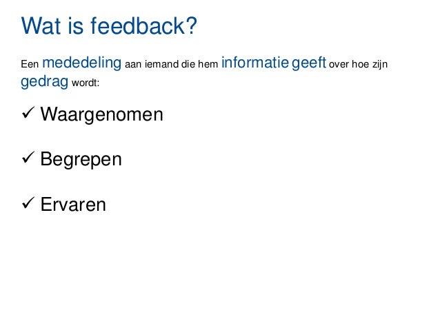 wat is feedback