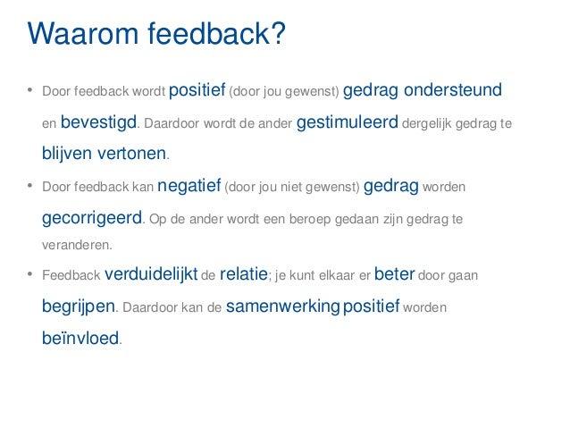 feedbackregels vier g