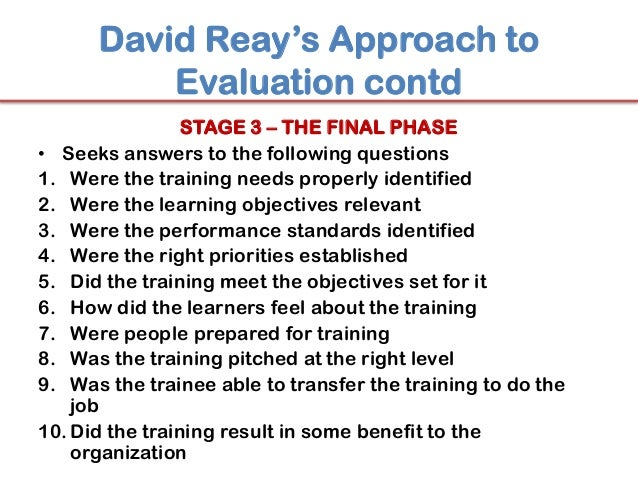 training evaluation and the transfer of Evaluation of effectiveness of training and development: and transfer of training training evaluation is further defined as a systematic process of data.