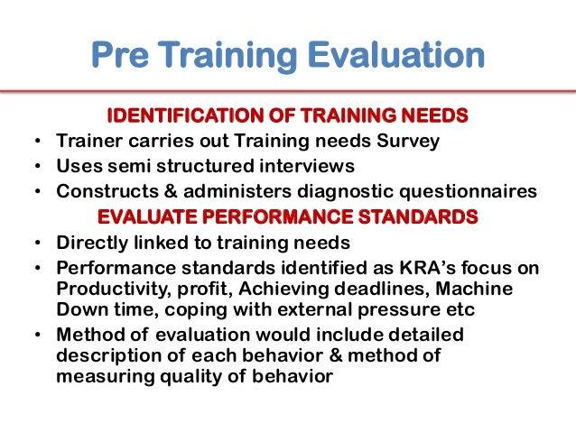 ... Organization; 18. Pre Training Evaluation ...