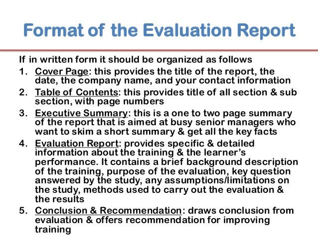 Evaluation report format ibovnathandedecker lingo24 technical writing services how to write an evaluation maxwellsz