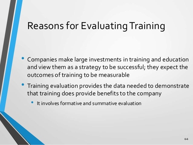 Chapter  Training Evaluation