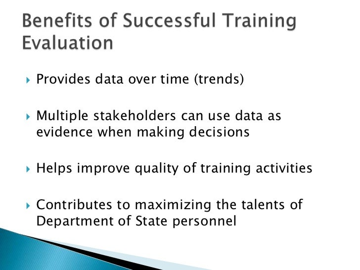 Training Evaluation Workshop SlidesMay