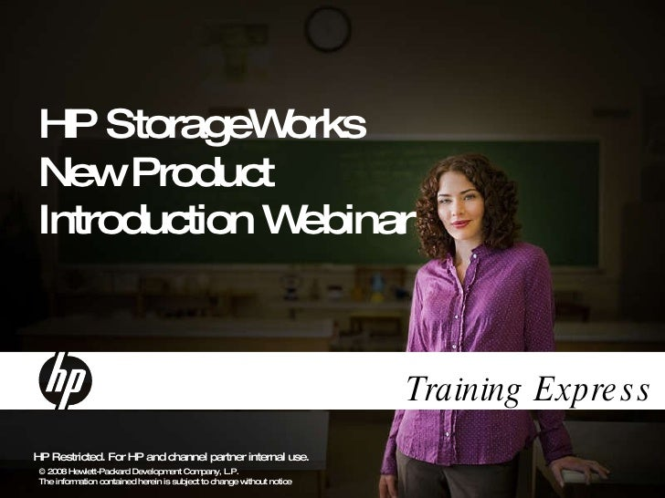 HP StorageWorks New Product Introduction Webinar