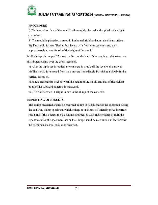Summer Training Report Gammon India