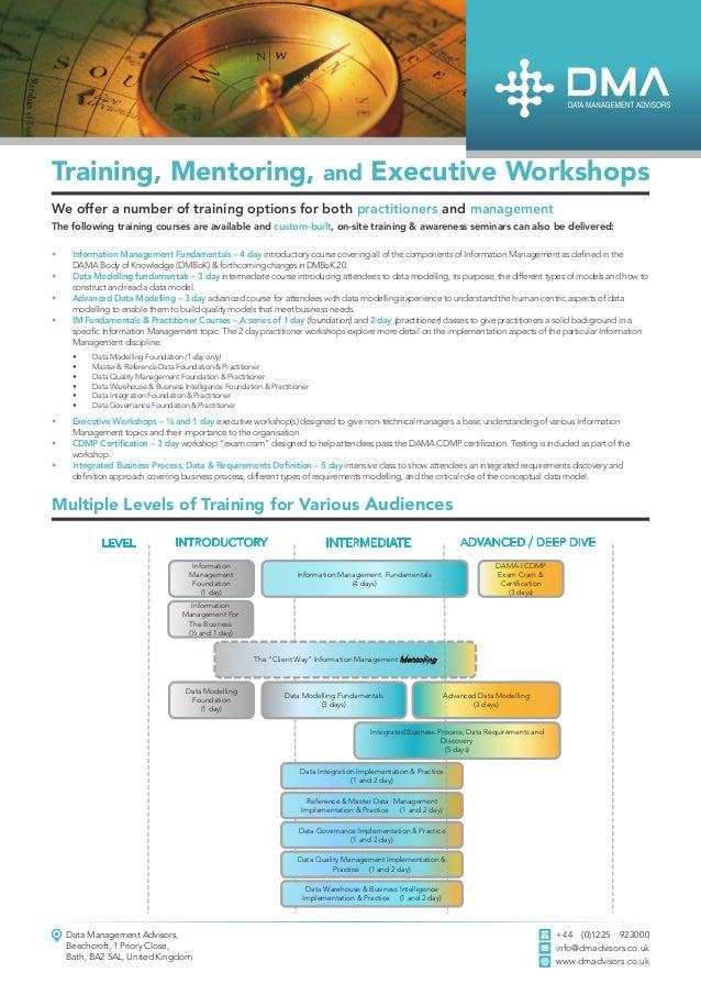 Information Management Training Courses Certification
