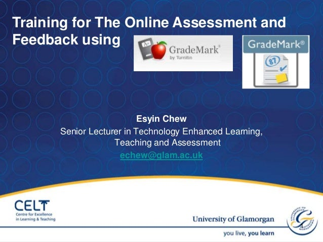 Esyin Chew Senior Lecturer in Technology Enhanced Learning, Teaching and Assessment echew@glam.ac.uk 1 Training for The On...
