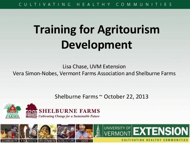 Presentation - Training for Service Providers That Support Agritourism Farms