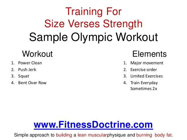 What Is The Difference When Training For Size Strength Or